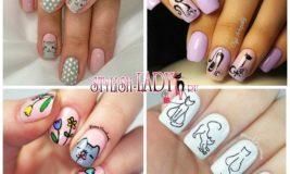 Кошки на ногтях — элегантный маникюр для коротких и длинных ногтей