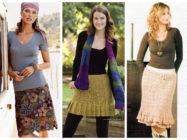 С чем носить вязаную юбку разной длины и фасонов?