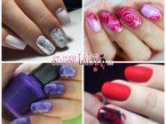 Розы на ногтях — модный маникюр для весны и лета
