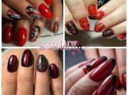 Вызывающий красно-черный маникюр — модные идеи