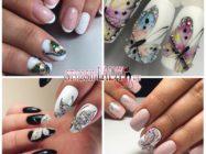 Маникюр с бабочками на коротких и длинных ногтях