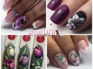 Маникюр с цветами на ногтях — красивые рисунки и идеи на фото