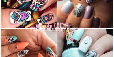 Восточный маникюр — идеи замысловатых узоров на ногтях