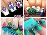 Идеи маникюра с перьями на ногтях