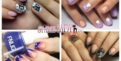 Неординарный треугольный френч — интересный вариант классики на ваших ногтях