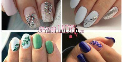 Идеи маникюра с веточками на ногтях