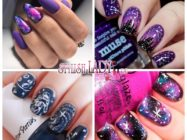 Космос на ногтях — модные идеи космического маникюра