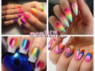 Радужные ногти — яркие идеи модного маникюра