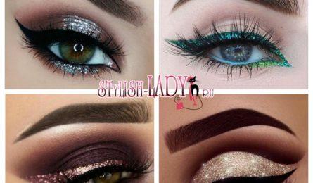 Как сделать шикарный макияж с глиттером для встречи Нового года
