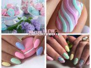Зефирный дизайн ногтей для любительниц вкусного лакомства