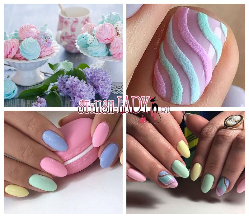 Синий Маникюр На Короткие Ногти Фото Дизайн