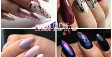 Эффектные варианты маникюра на острых ногтях