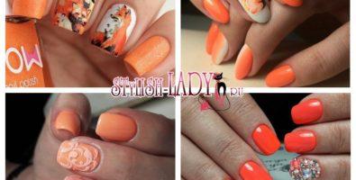 Жизнерадостный оранжевый маникюр