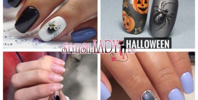 Стильный Хэллоуин — маникюр с паучками и паутинками