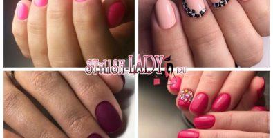 Простой и элегантный: однотонный маникюр на короткие ногти