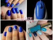 Красивый однотонный маникюр в роскошных синих тонах