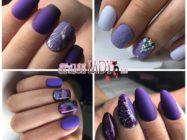 44 идеи шикарного матового фиолетового маникюра