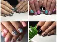 64 идеи геометрического маникюра для коротких ногтей