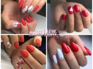 Модный красно-белый маникюр — идеи для зимы и дня Святого Валентина