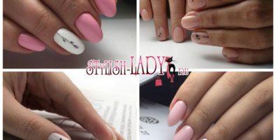 Нежный весенний маникюр с мини-рисунками на ногтях