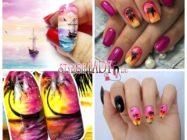 Маникюр с солнечной тематикой: закаты и рассветы на ногтях