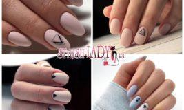 Скромный и элегантный декор: 44 идеи маникюра с минималистической геометрией на ногтях