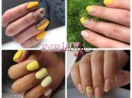 Красивый желто-бежевый маникюр – хороший вариант для деловых будней в летнюю жару