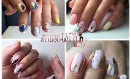 Летняя абстракция на ногтях: эффектные узоры простыми средствами