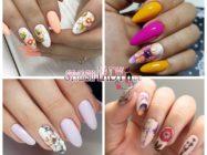 Шикарные идеи летнего маникюра с цветами для длинных, острых ногтей