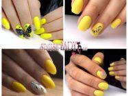 Ногти цвета солнышка — 32 идеи желтого летнего маникюра