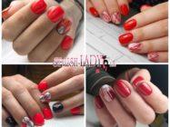 Красная геометрия на ногтях — 32 модные идеи
