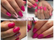 32 идеи темно-розового осеннего маникюра