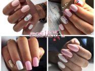 Модные идеи бело-розового осеннего маникюра