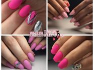 Утонченная осенняя нежность — матовый розовый маникюр