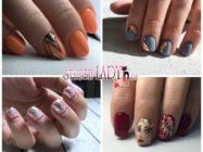 44 идеи осеннего маникюра на короткие ногти — в моде нюд, абстракция и геометрия