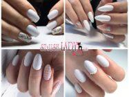 Стильный и модный белый маникюр на длинные ногти