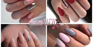 Модный маникюр на длинные ногти миндалевидной формы: классика и новые тенденции