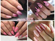 Нежный и романтичный розовый маникюр на длинные ногти