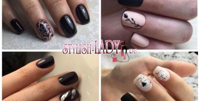 Черный маникюр на короткие ногти — не только на Хеллоуин, но и на каждый день