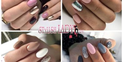 Разные цвета и блестки на одном ногте — 36 идей модного маникюра
