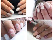 Эффект мрамора в зимнем маникюре: каменные узоры на ногтях в морозной гамме