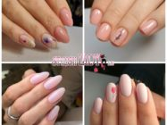 Красивые идеи бледно-розового весеннего маникюра