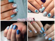 Голубой маникюр на короткие ногти — модные идеи и новинки
