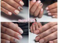 Модный нюдовый маникюр на короткие ногти