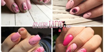 Новые идеи розового маникюра на длинные ногти
