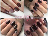 Темно-коричневый маникюр: шоколадное великолепие на ногтях