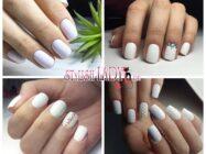 Белый однотонный маникюр для коротких и длинных ногтей