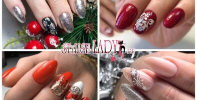 Модные идеи новогоднего маникюра на длинные ногти