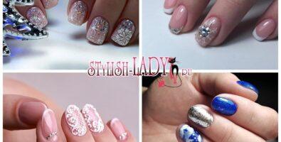 Новогодний маникюр на короткие ногти — модные идеи с фото