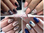 Идеи новогоднего маникюра на овальные ногти